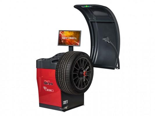 Masina de echilibrat roti de autoturisme, autoutilitare si motociclete Sicam SBM V660 L