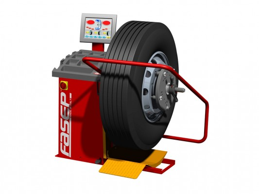 Masina pentru echilibrarea rotilor Fasep B350 Titan