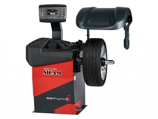 Masina de echilibrat roti de autoturisme, autoutilitare si motociclete Sicam SBM Wave 5 LCD AW
