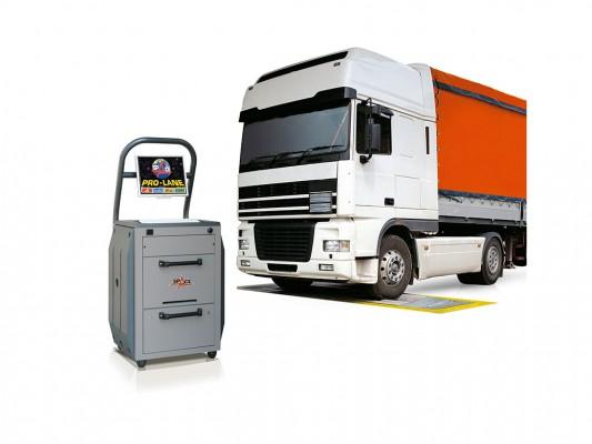 Stand pentru testarea fortelor de frana la camioane si autoturisme Space - Italia