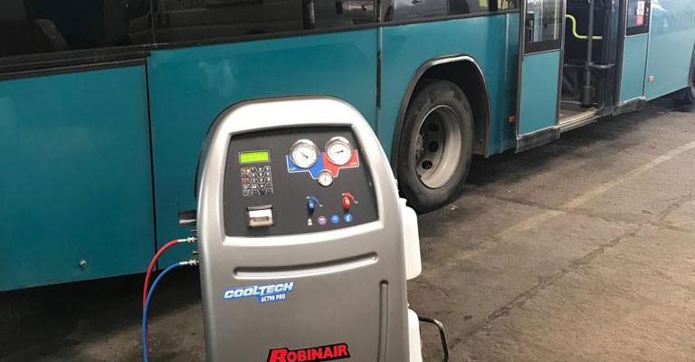 Instalare Robinair AC 790 Pro companie de transport public